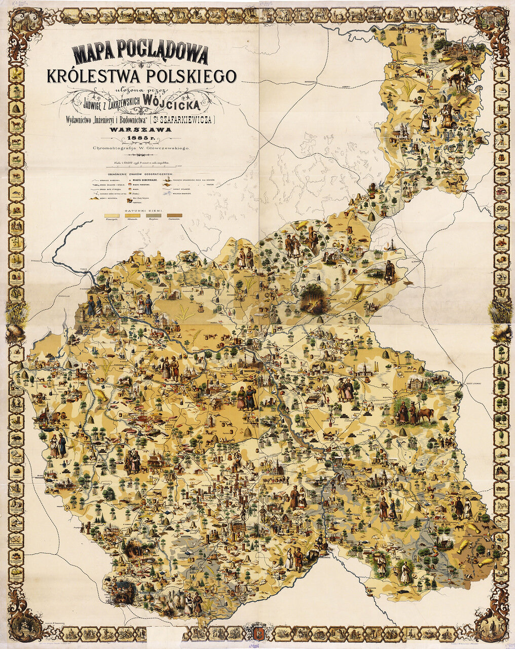 1985. Карта Царства Польского