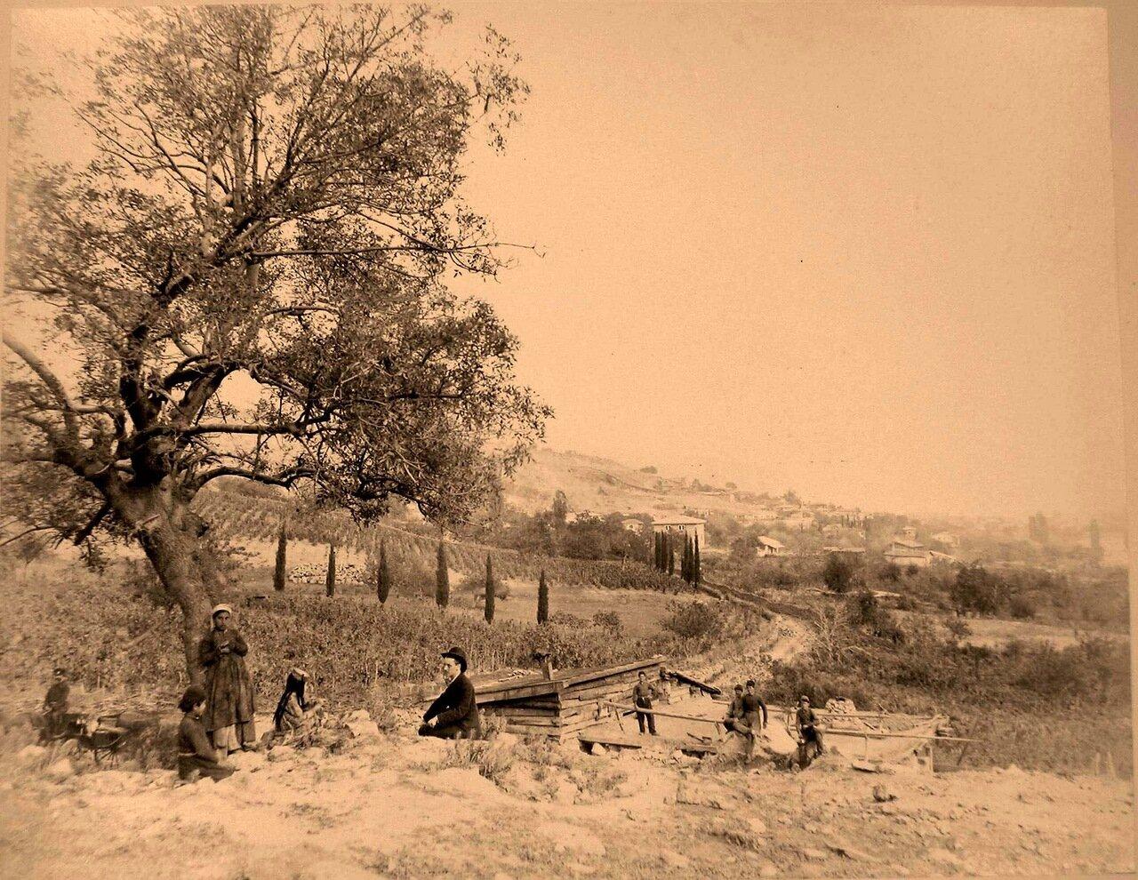 46. Ялта. Местные жители по дороге из Ялты в Верхнюю Аутку