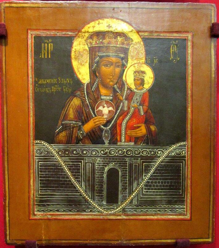"""Икона Божией Матери """"Умягчение злых сердец"""" (Ченстоховская). Вторая половина XIX века."""