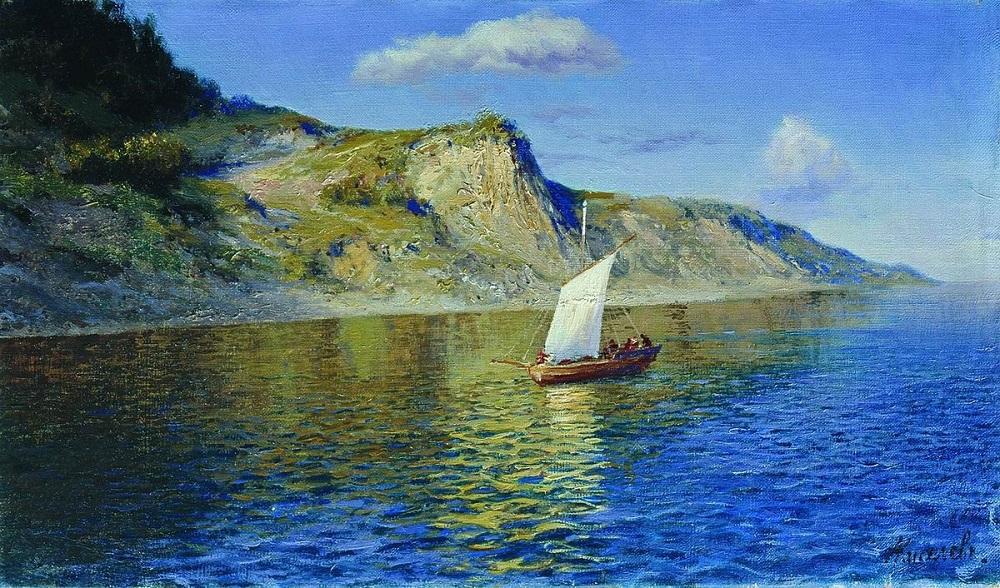 На большой реке 1904 холст масло 25.5 х 43 см Омский областной музей изобразительных искусств им. М.А Врубеля.jpg