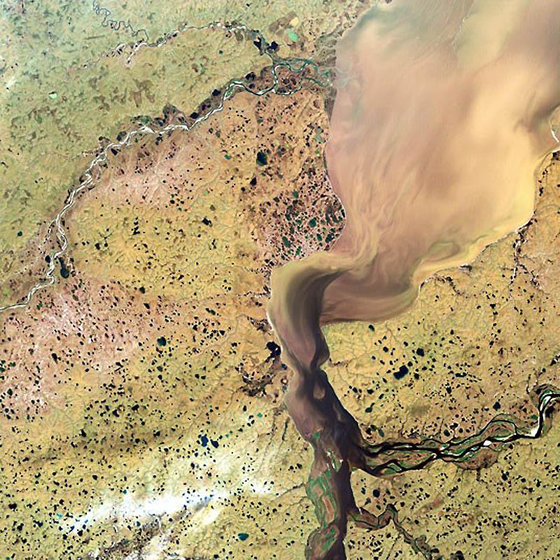 17. Дельта реки Хатанга в Сибири, Россия. (SPL / Barcroft Media)