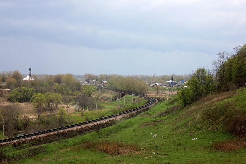 Станция Зубцов на горизонте