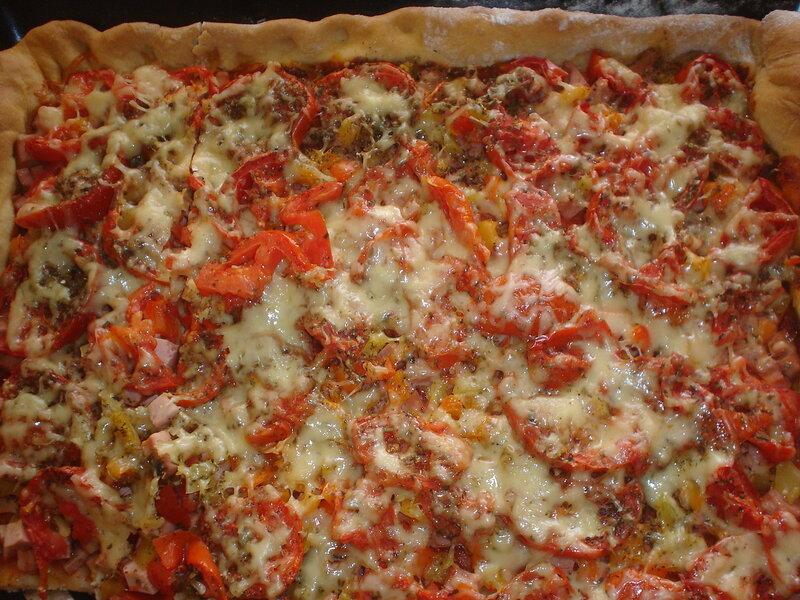 Пицца на дрожжевом тесте без подхода