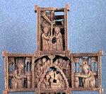 Крест двусторонний (фрагмент). XVIII в. Афон. Дерево, резьба