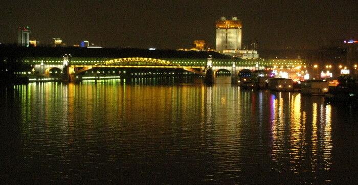 Андреевский мост и Воробьёвы горы