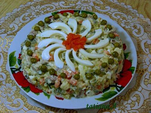 Украшение салата оливье фото