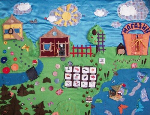 Развивающий коврик для детей (1,2*1,5 м.) Авторская ручная работа