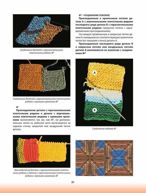 Вязание спицами пэчворк соединение деталей