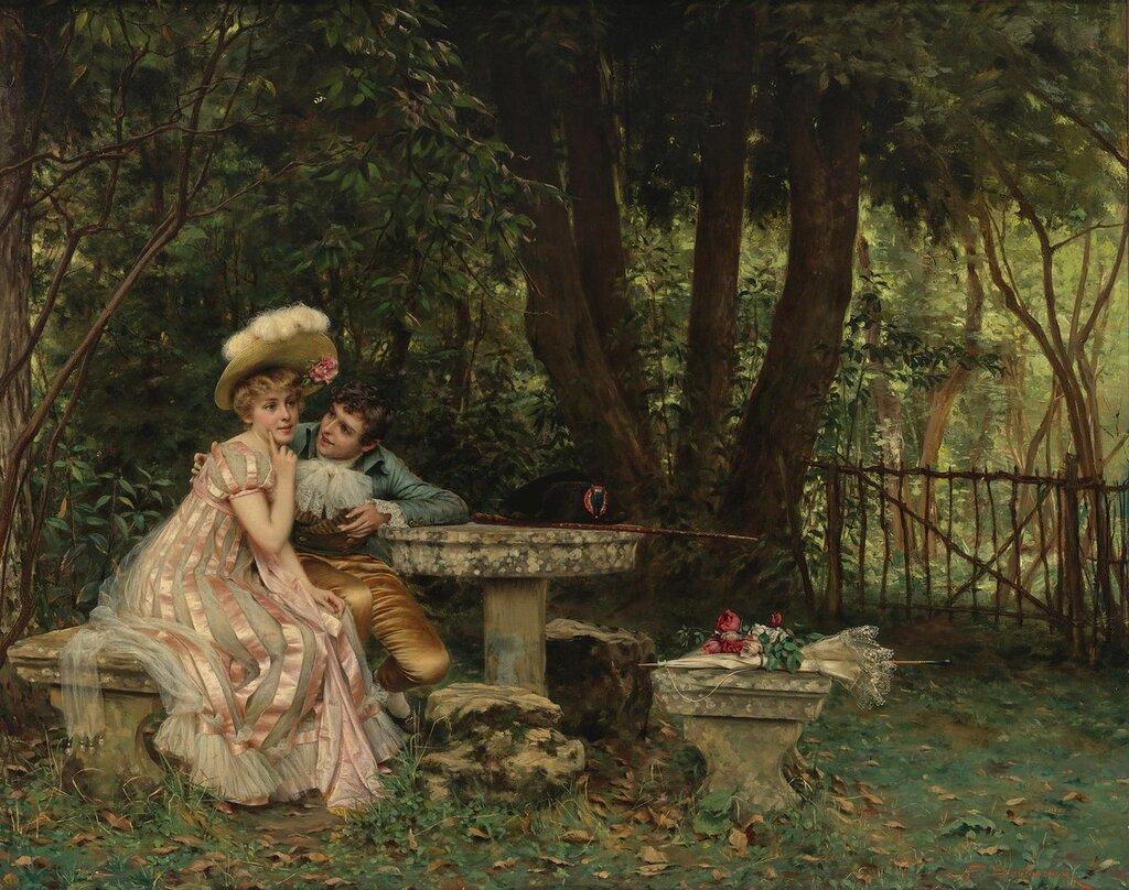 Charles Joseph Frederic Soulacroix, 1825 - 1897. Я осмелюсь... 63.1 х 78.4 см. частная коллекция.jpg