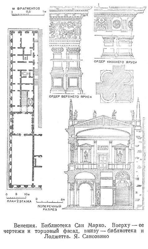 Библиотека Сан Марко в Венеции, чертежи