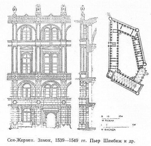 Замок Сен-Жермен, чертежи