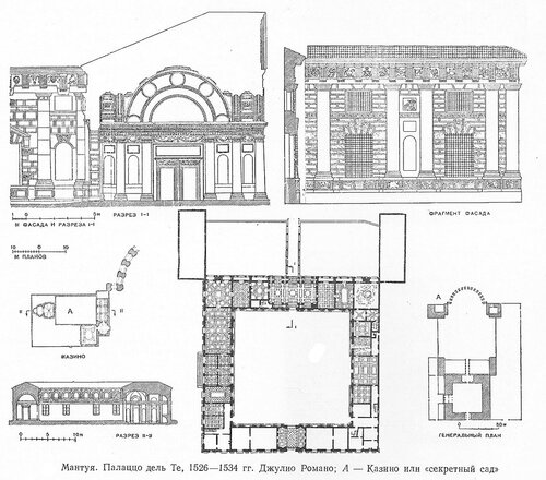 Палаццо дель Те, чертежи