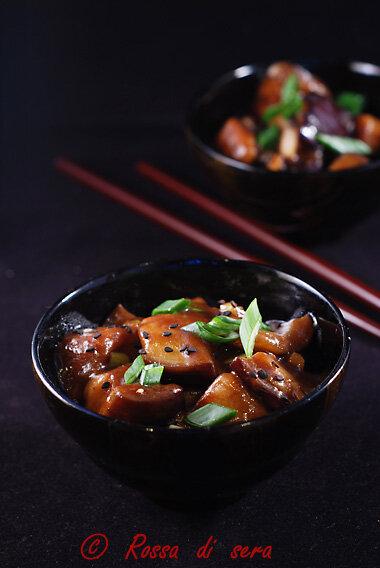 Melanzane cinesi in salsa di soia
