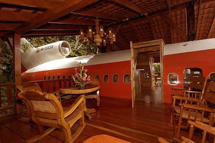Отель восстановил корпус боинга и предлагает своим посетителям поселиться в таком роскошном номере.