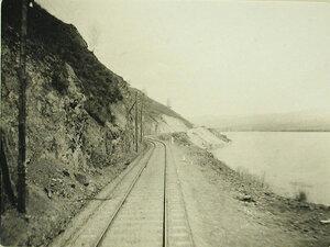 Вид железнодорожного полотна у реки Хилка