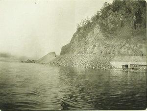 Вид озера вблизи станции. Забайкальская обл. Шарыжалгай ст.