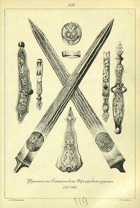 428. Украшения на Голштинских Офицерских ружьях, 1757-1762.