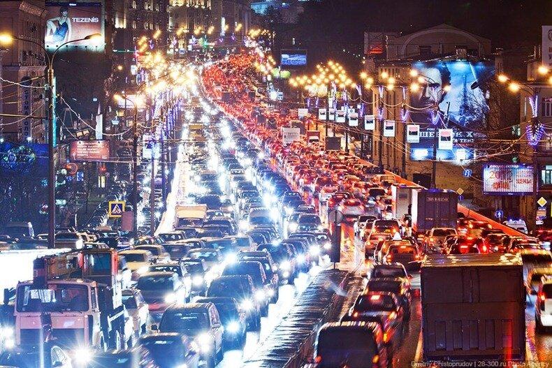 московские пробки фото