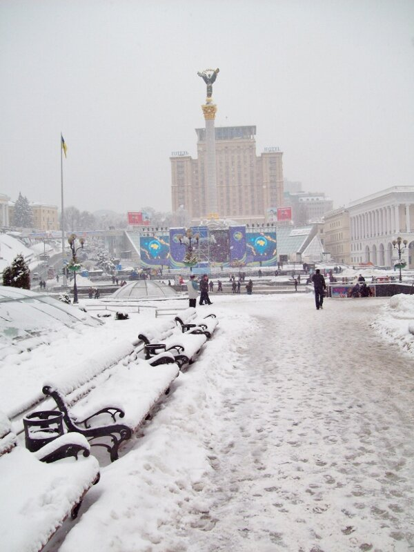 Зима на Майдане