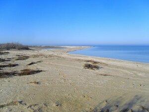 Берег, море Азовское, осень, 2014год