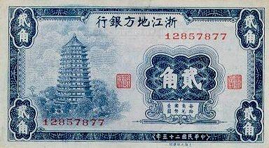 Китай, 20 центов, 1936