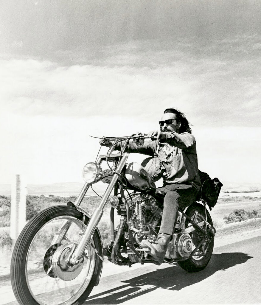 Dennis Hopper in Easy Rider, 1969.