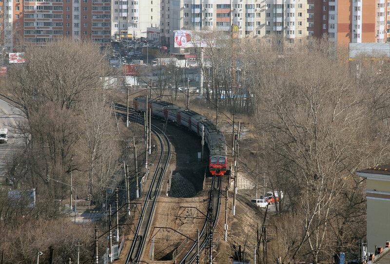 ЭД4М-0374 уезжает в Тушино