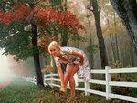 Девушка осень Эротические обои
