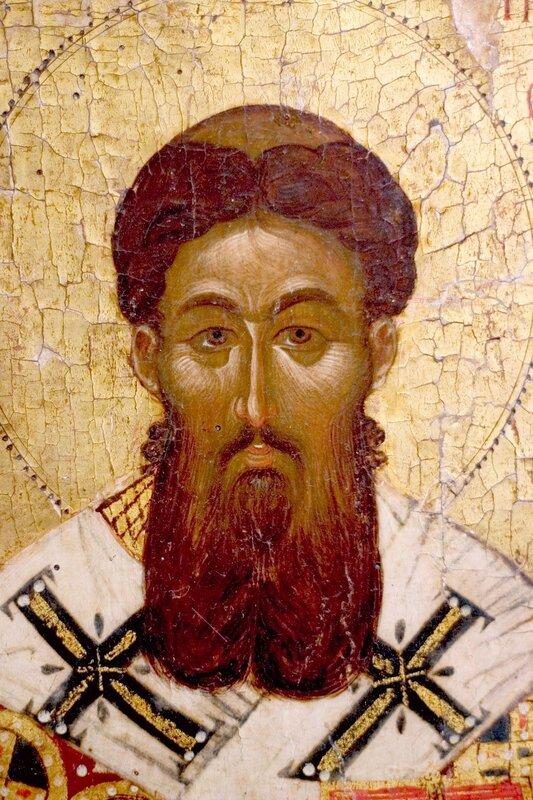 Святитель Григорий Палама, Архиепископ Солунский. Византийская икона второй половины XIV века. ГМИИ.
