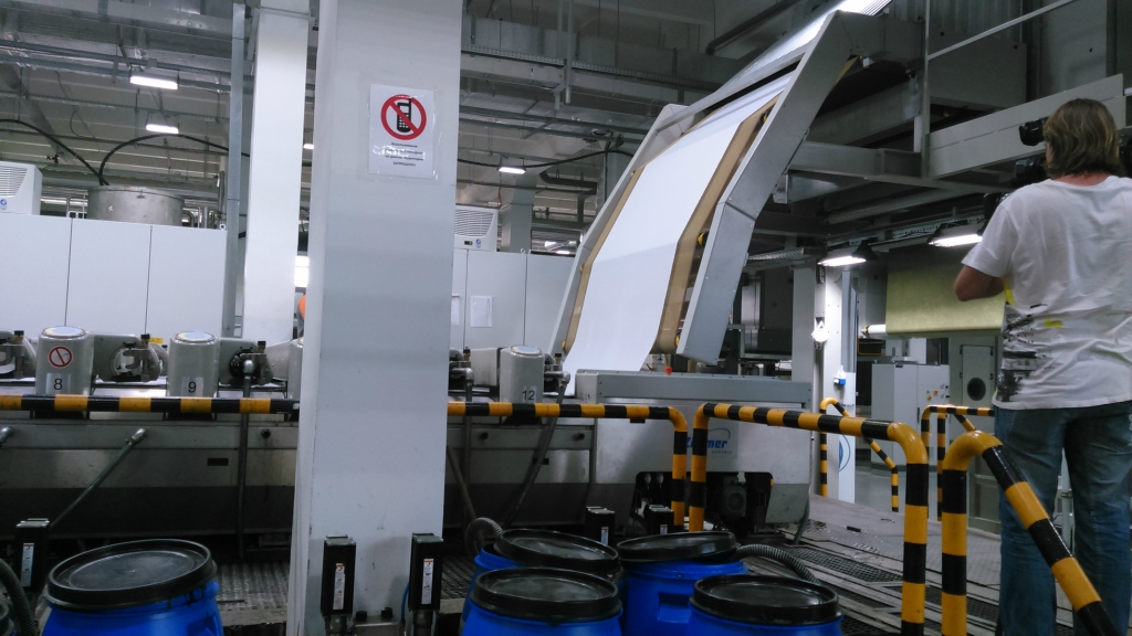 Фоторепортаж: Запуск производства синтетического текстиля «БТК холдинг»
