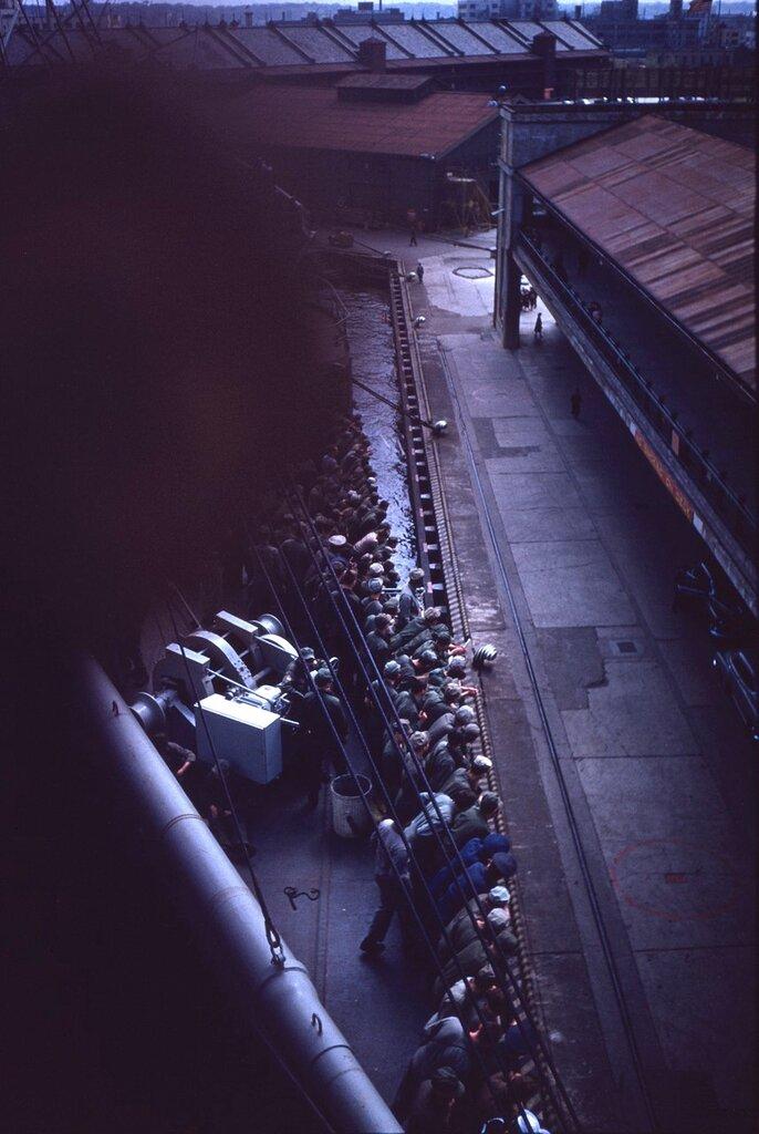 Docking at Sasebo, 1951