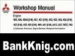 Книга Сервисные мануалы на все двигатели mitsubishi 1990-2002 года