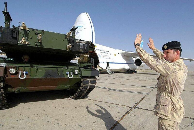Arriver des Leopard 2