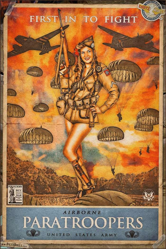 Армейский pin-up в стиле 1940-х годов от американского художника Britt Dietz (16)