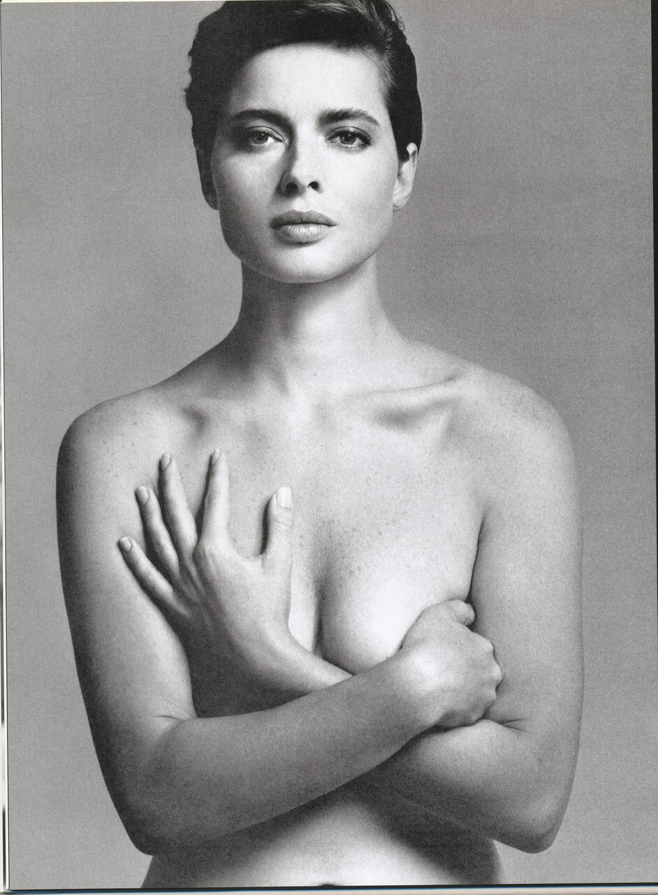 Isabella Rossellini byRichard Avedon for Vogue US nov 1985