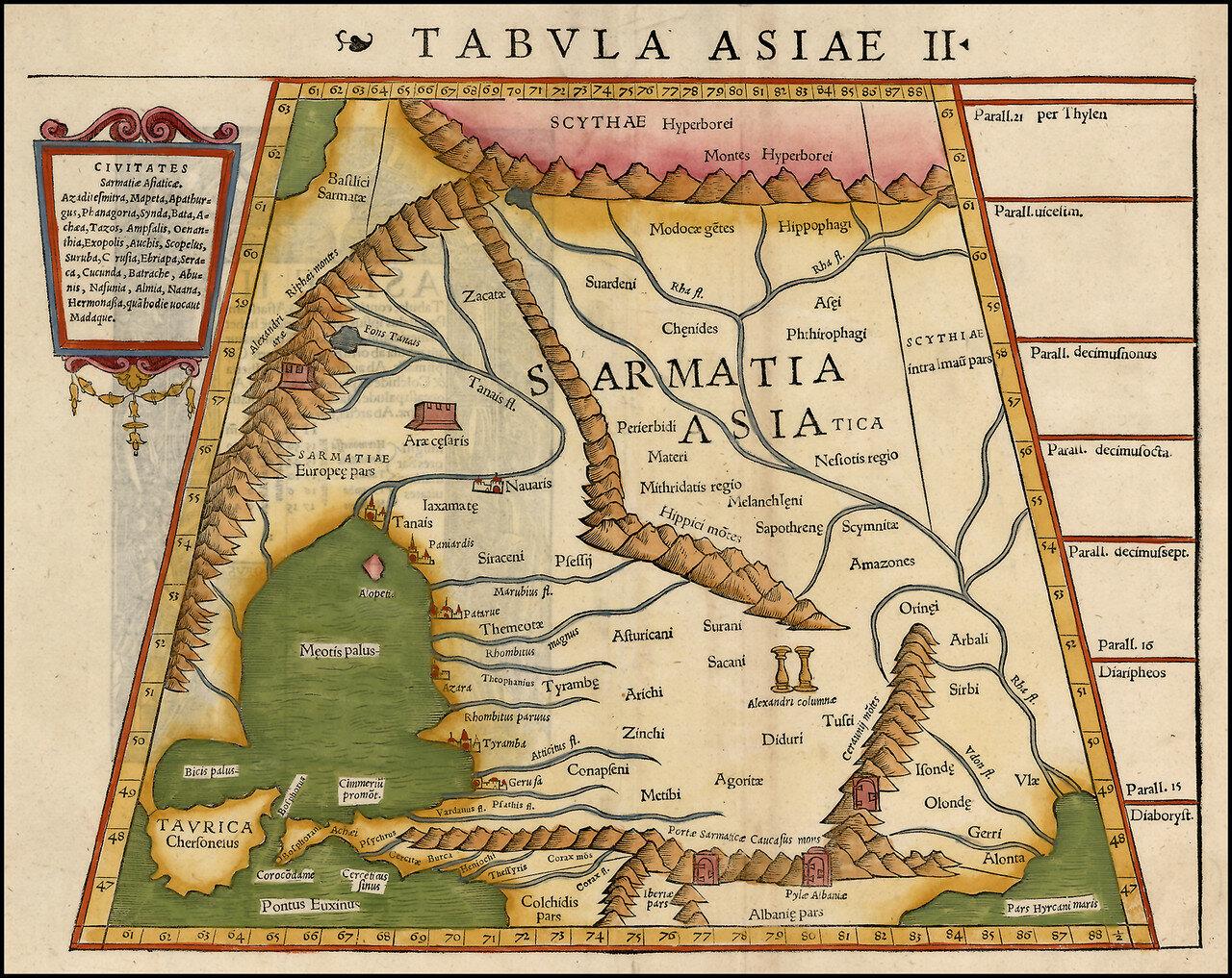 1542. Карта Азии