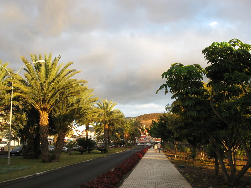 Дорога в Лос Кристианос