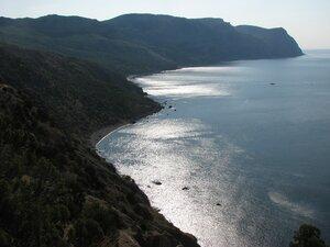 Вид на мыс Айя, золотой и серебряный пляжи Балаклавы