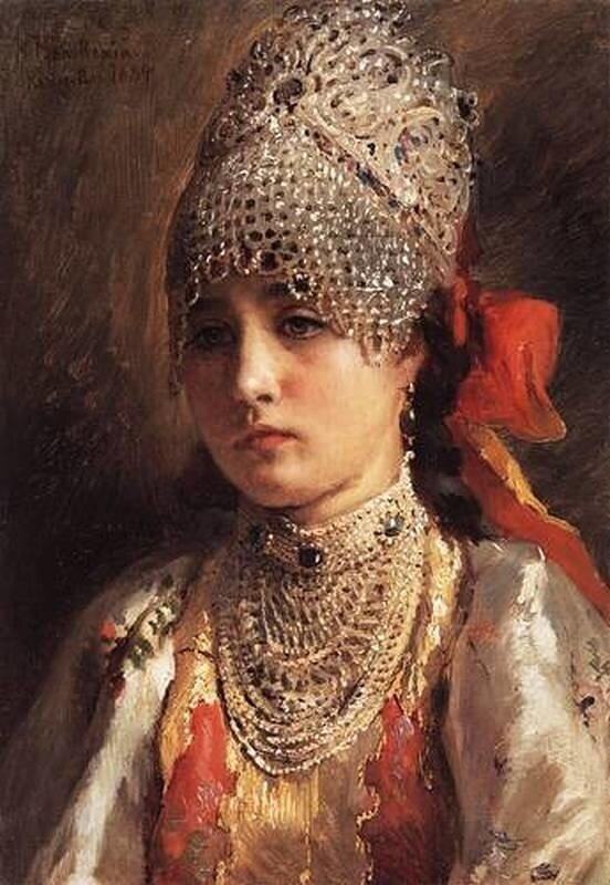 К.Е.Маковский Боярышня 1884г.