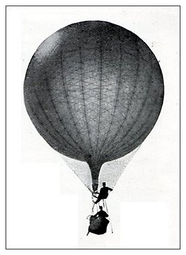 MILITARY OBSERVATION BALLOON ABOVE LADYSMITH From: H. W. Wilson, With the Flag to Pretoria, 1902