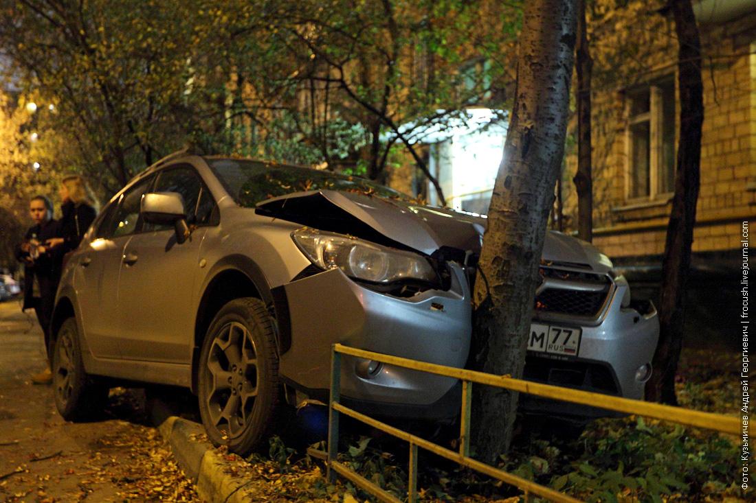 тест-драйв Subaru XV о дерево, не вписалась в пейзаж, внезапно, во всем виноваты дорожники, и даже не тормозила