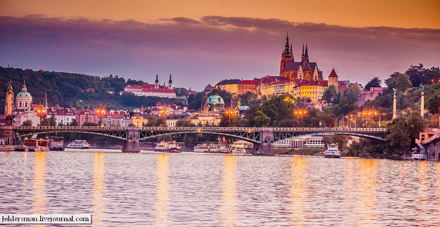 Прага вид с Влтавы