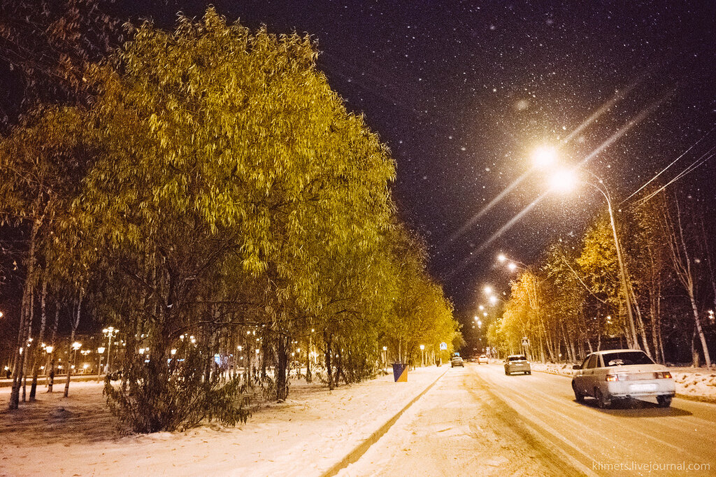 Улицы вечернего Нижневартовска