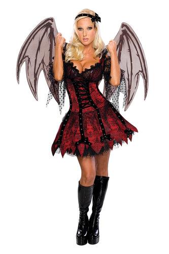 Женский карнавальный костюм Красная летучая мышь