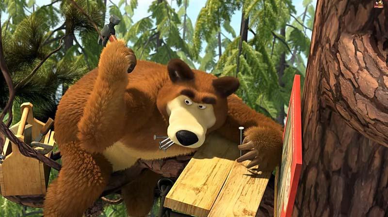 Мультик маша и медведь 10 серия