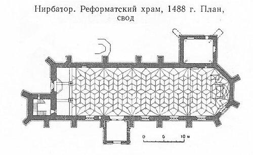 Реформаторский храм в Нирбаторе, план