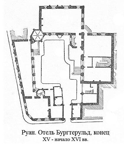 Отель Бургтерульд в Руане, план