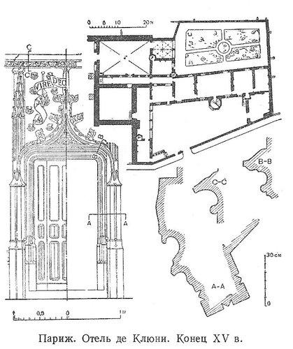Отель де Клюни в Париже, чертежи