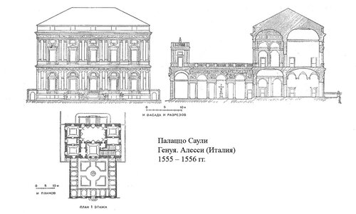 Палаццо Саули, чертежи