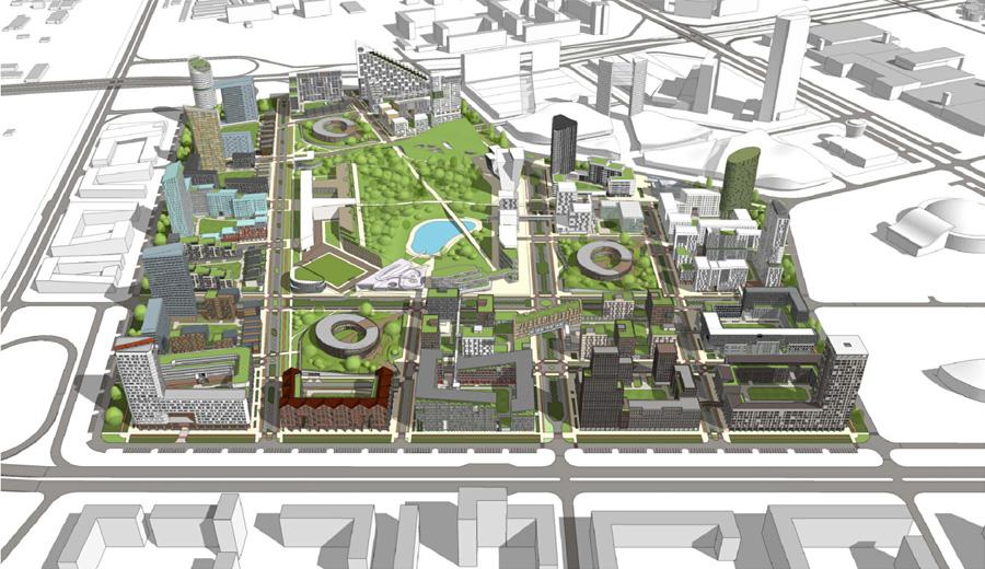 Быстро строится в наиболее перспективном – советском районе города красноярска.